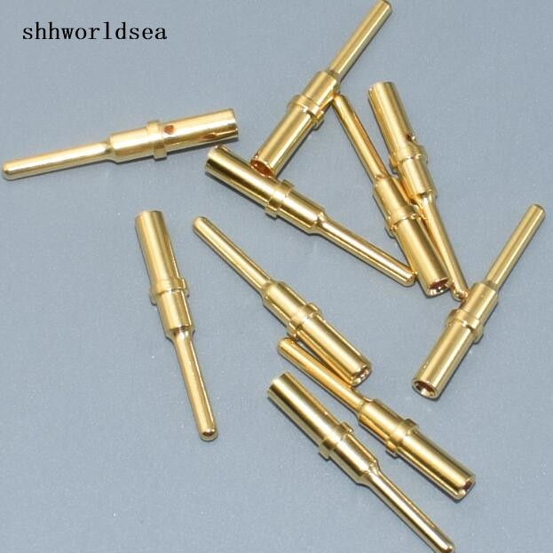 Shhworldsea 10 Uds oro hombre conector sólido 0460-202-1631-0460-202-2031-0460-204-1231 ternimal