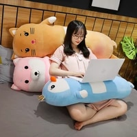 lovely 90cm120cm the animal rabbit sleep pillow long cute penguin doll girl plush toy lazy man bed on the big cute comfortable