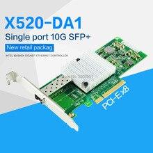 10Gb Pci-E Nic Netwerkkaart Intel 82599EN Chipset Voor X520-DA1 Geconvergeerde Netwerk Adapter (Nic) enkele Sfp + Poort, Pci Express X8