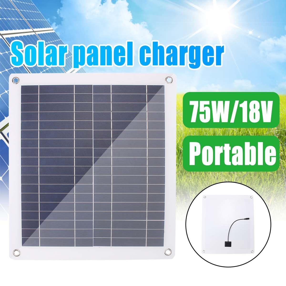 Módulo de células de Panel Solar de 75W, Kit DIY para caravana, coche, barco, uso doméstico, Panel de paneles solares de 18V con línea de Bus USB y CC Dual de 2 líneas