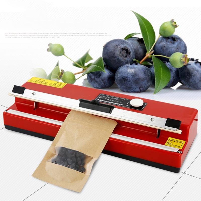 Новинка 400, настольная машина для запечатывания пластиковой пленки, алюминиевая фольга, чайные пакеты, крафт-бумажные пакеты, Луна, запечаты...