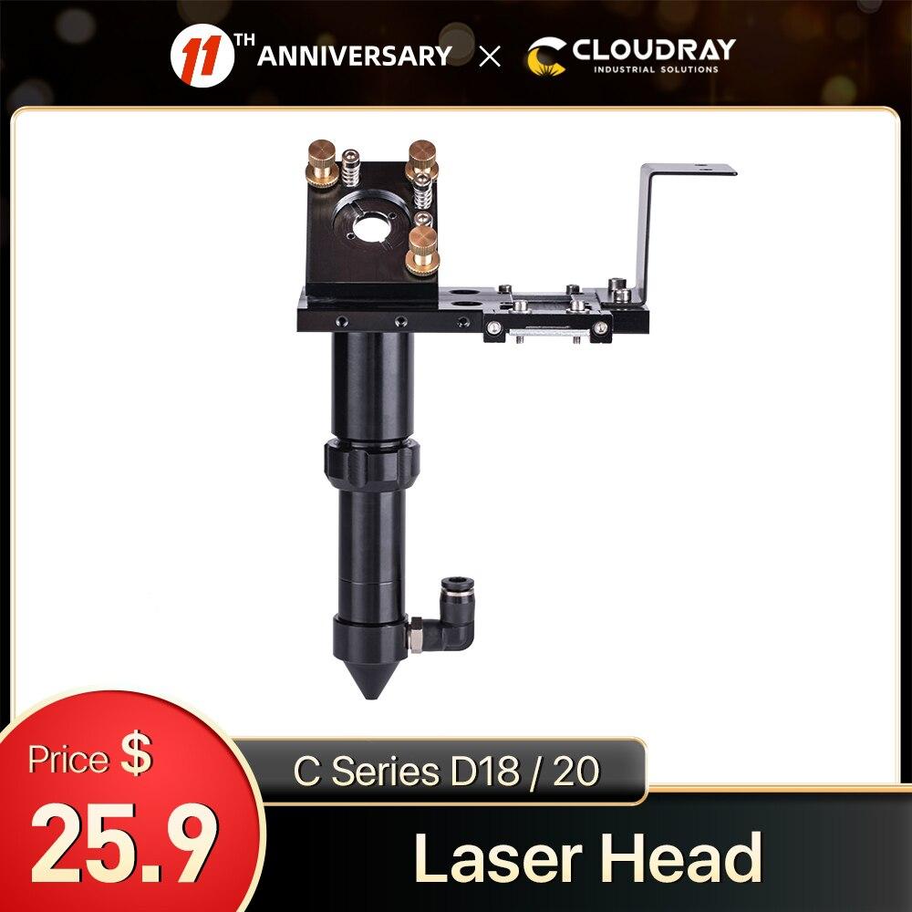 Cloudray C Series CO2 Laser Head Dia.18 FL38.1& Dia.20 FL50.8 / 63.5/101.6mm Mount for Laser Engraving Cutting Machine(Black)