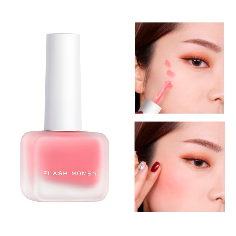 Peach Liquid Facial Blush Matte Nude Cosmetics Repair Matte Blusher Face Cheek Blush Cream Korean Makeup Cream  Blush Makeup