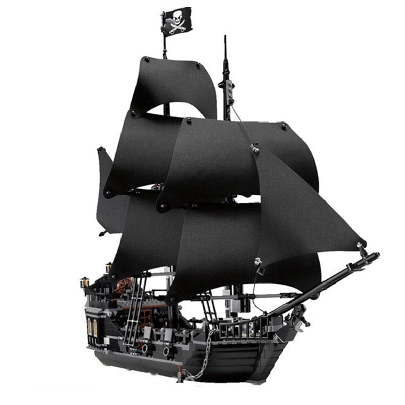 Barco la Perla Negra reina Ana de la venganza piratas Piratas del Caribe ladrillos lepining piratas barco bloques de construcción en miniatura niños regalos Juguetes