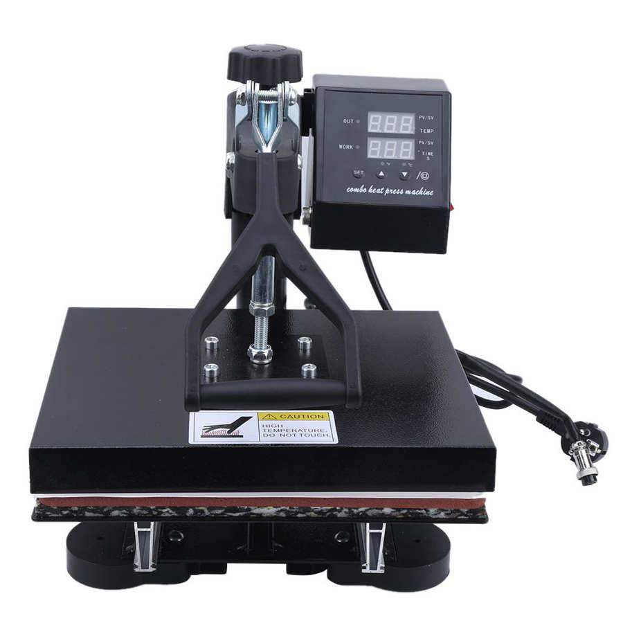 Dual Display Digital Heat Press Machine 600W High Pressure Hydraulic T shirt Heat Transfer Printer For Mug/Football/Bottle/Shoe