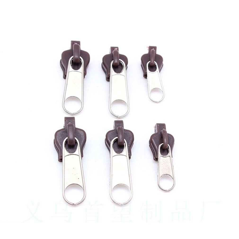 6 uds Universal instantánea arreglar Kit de reparación de cremalleras de cremallera Slider los dientes de rescate de coser de 3 tamaños/Kit