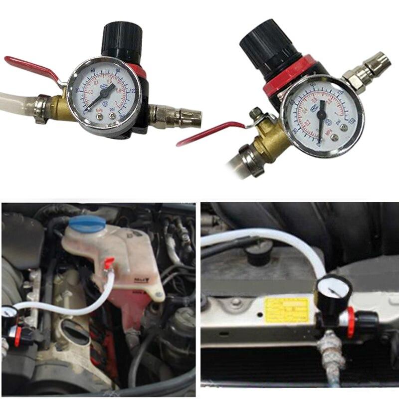 Probador de fugas de presión de coche, herramienta de verificación de junta, Detector de tanque de agua, juego de motor, Kit de sistema Universal, nuevo, duradero