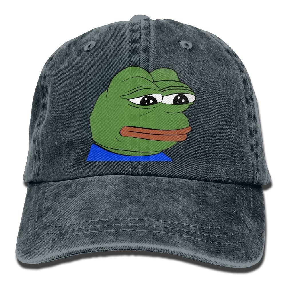 Pepe The Frog logotipo vaquero, sombrero de béisbol gorra ajustable deportivo diseño mejor sombrero para los hombres y las mujeres