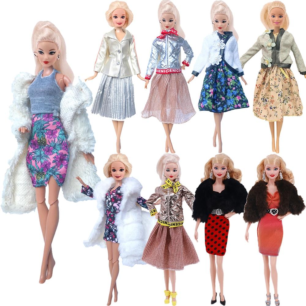 Vestido de Barbies a la moda + 1 zapatos, ropa informal para...