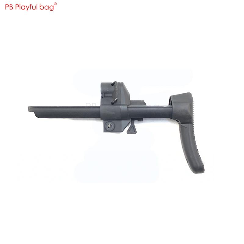 Esportes ao ar livre diy tático pistola de bala água mp5k náilon mp5 telescópica suporte pequeno cinza hq industrial mp5k vara telescópica kd66