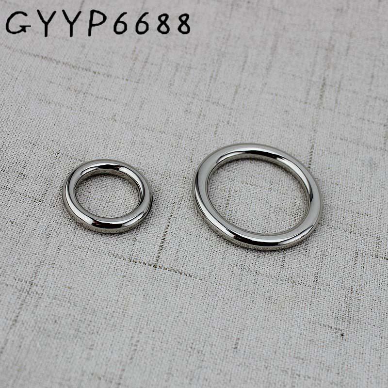 4-30 unidades 16mm,27mm, plata ni Metal soldado redondo o-ring sólido fundición cerrado O anillos Clip de cierre para accesorios Diy