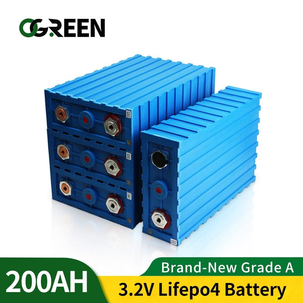 Ogreen 16 قطعة 200Ah lifepo4 بطارية حزمة 48V200AH 24V400AH CALB ليثيوم الحديد الفوسفات الخليوي الشمسية قارب EV RV مع قضبان