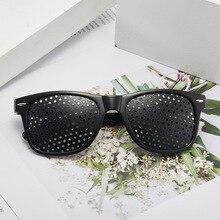 Anti Myopia Pinhole Glasses Men Pin hole Sunglasses Women Eye Exercise Eyesight Improve Natural Heal