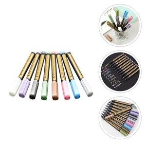 8Pcs Drawing Painting Marker Pens Metallic Color Pens Paint Art Marker Pens
