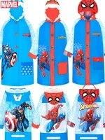 marvels spider man childrens raincoat boy spider man with school bag thicken child baby kindergarten pupils poncho