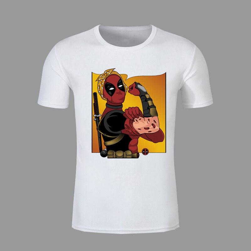 New Arrive American Comic Badass Deadpool T-Shirt Tees Men Women Cartoon Characters 3d t shirt Funny Casual tee shirts tops