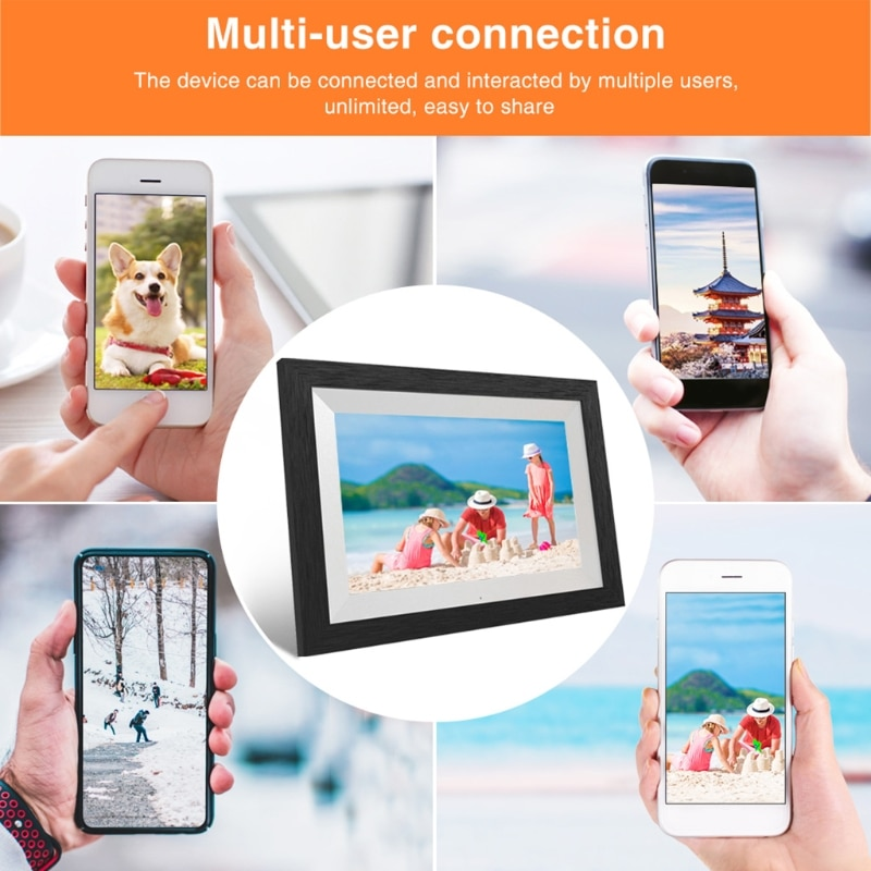 G100 WiFi 10,1 pulgadas marco de fotos Digital 1280x800 Pantalla táctil IPS compartir fotos a través de la aplicación Email