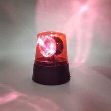 Beam Stage Effect 360 Degree Rotating Light Flashing Mini Desktop DJ Party Strobe Light Night Light Beacon Warning Light