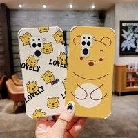 greedy bear phone case for xiaomi redmi note 9 9t 9s 9pro 9promax pro max liquid silicone cover