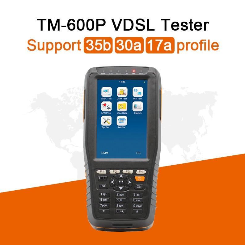 DHL Free Shipping Mufti-Function TM600P VDSL VDSL2 Tester-Support 35b 30a 17a Profile Detection Instrument