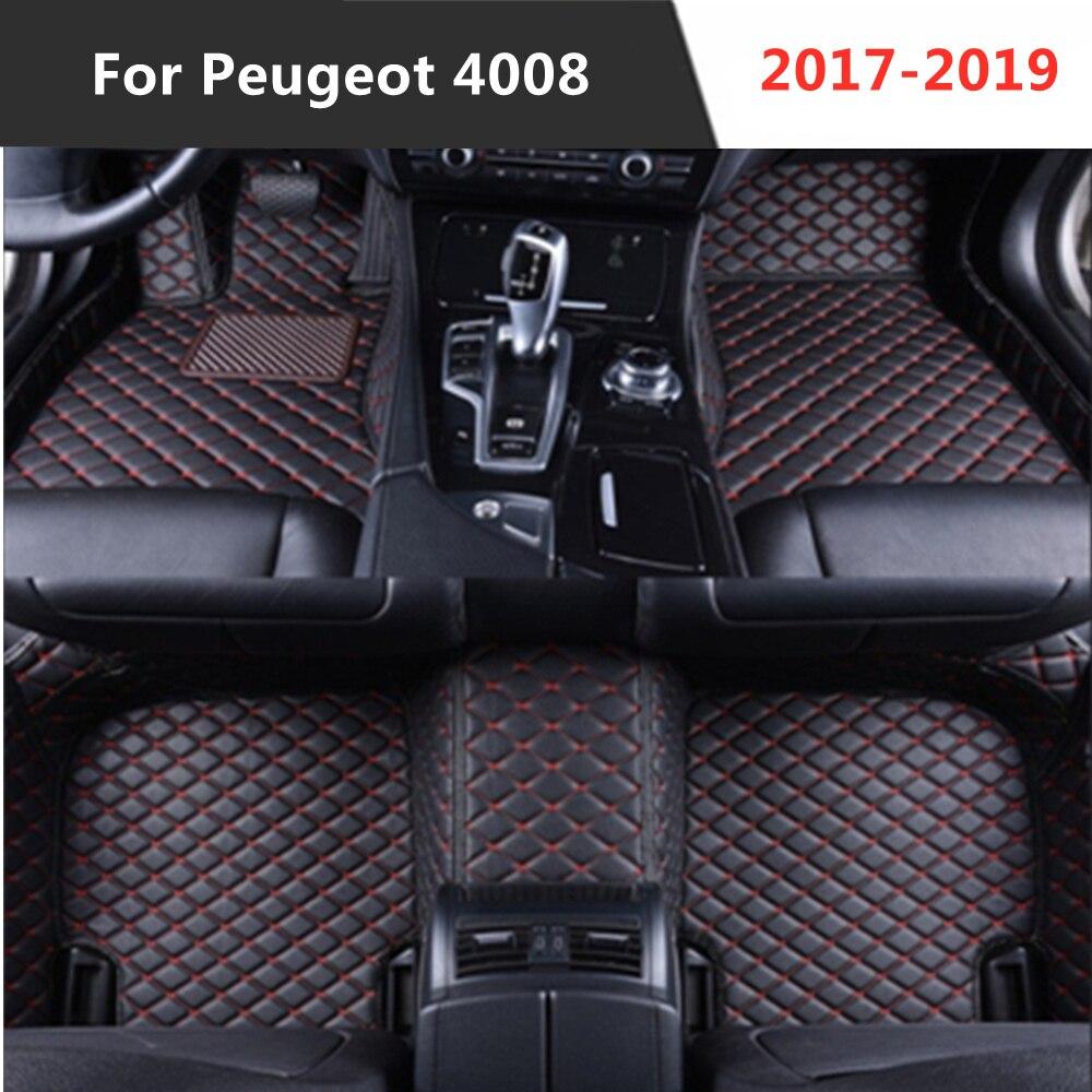 Peugeot 4008 (2017-2019) 2018 todos los años de cuero Auto alfombrilla de...