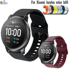 Bracelet Accessories WatchBand 22MM For Xiaomi haylou solar ls05 smart watch soft silicone Replaceme