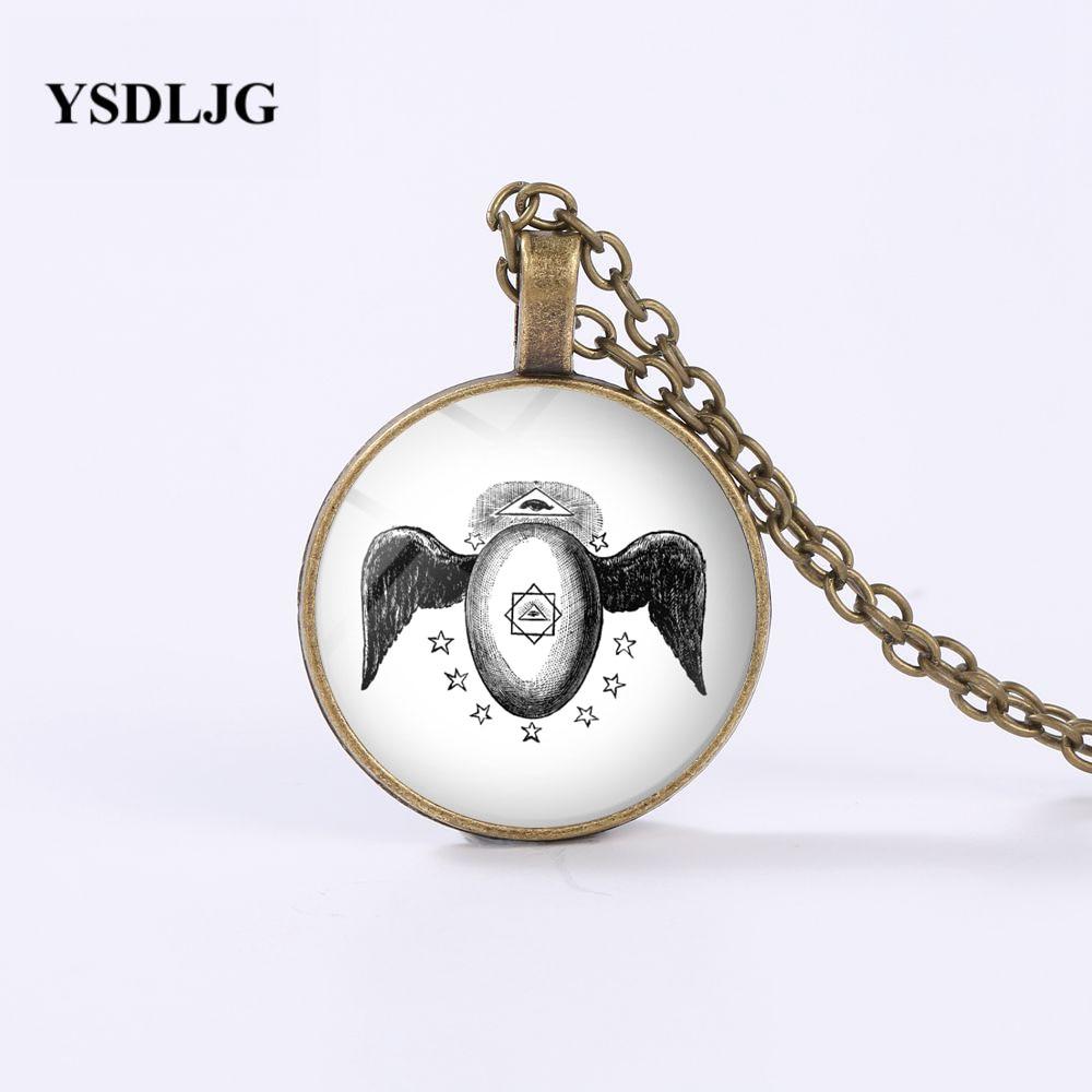 Collar GDRGYB Freemason-collar masónico Menfis Misraim Egipto Rite Winged Egg Kneph símbolo Harajuku collares