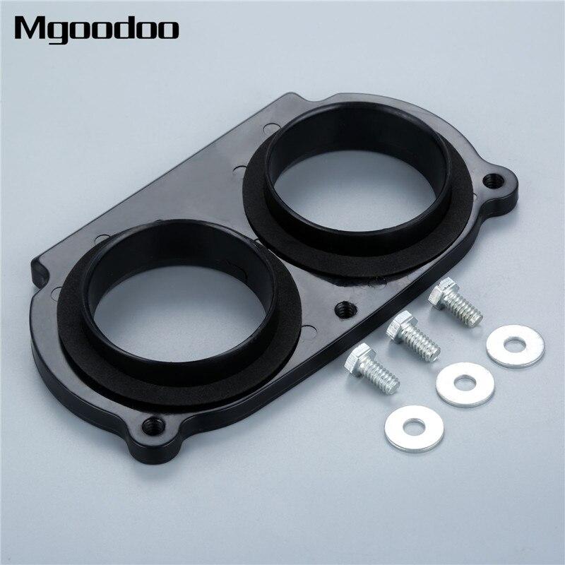 Adaptador de admisión Mgoodoo Filtro de aire para motocicleta K & N negro para Yamaha Raptor 660 / 686 todo el año