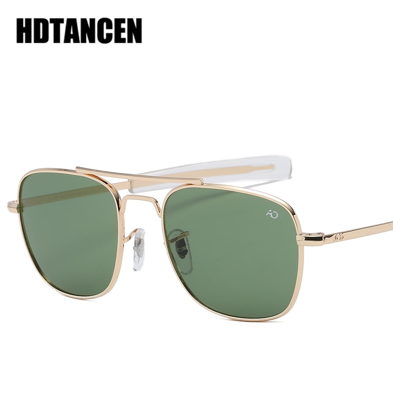 HDTANCEN Aviation AO Sunglasses Men luxury Brand Designer Sun Glasses For Male American Army Militar