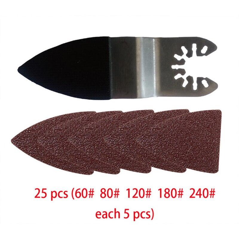 25 шт., абразивные диски для полировки 60/80/120/180/240