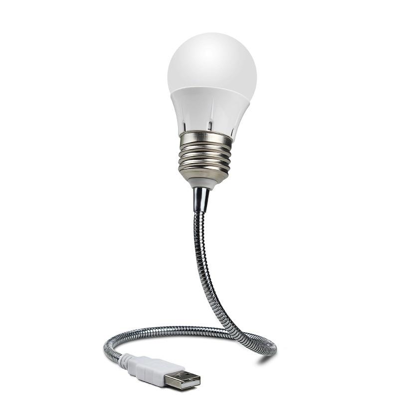Portable USB LED Mini Book Light Reading Light Table Lamp Flexible 6leds USB Lamp for Power Bank Laptop Notebook PC Computer