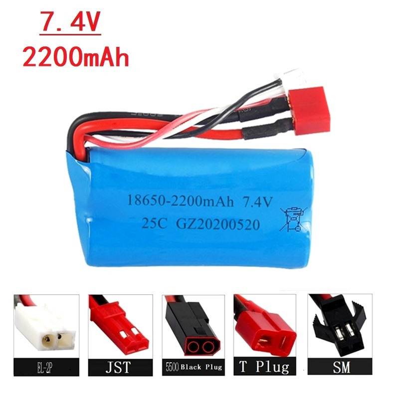 7.4V 2200mAh 18650 Lipo Batery for remote control helicopter toys parts wholesale 7.4 V 1500 mAH Lip