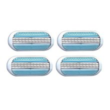4pcs Beauty Safety Female Razor Blade Shaving Women Blades Woman Shaver Razor Blades Replacement Hea