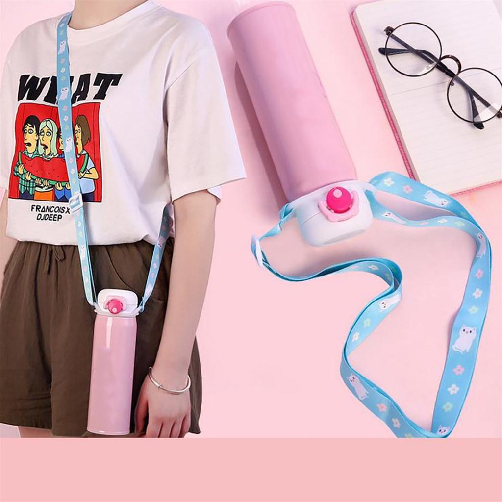 Botella de agua, correa de hombro, hebilla larga portátil, bebida, viaje, colgante, accesorios de taza de viaje, herramienta de cocina 2020