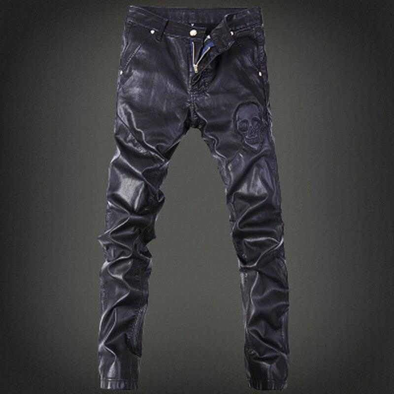 Мужские модные брюки 2019, кожаные брюки, модные мужские брюки для ночного клуба, всесезонные кожаные брюки, мужские дикие длинные брюки
