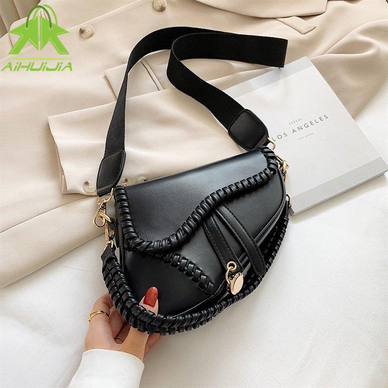 2021 New Weave Ladies Hand Bags Pu Pillow Classic Handbag for Women Light Luxury Fashion Single Shoulder Messenger Crossbody Bag