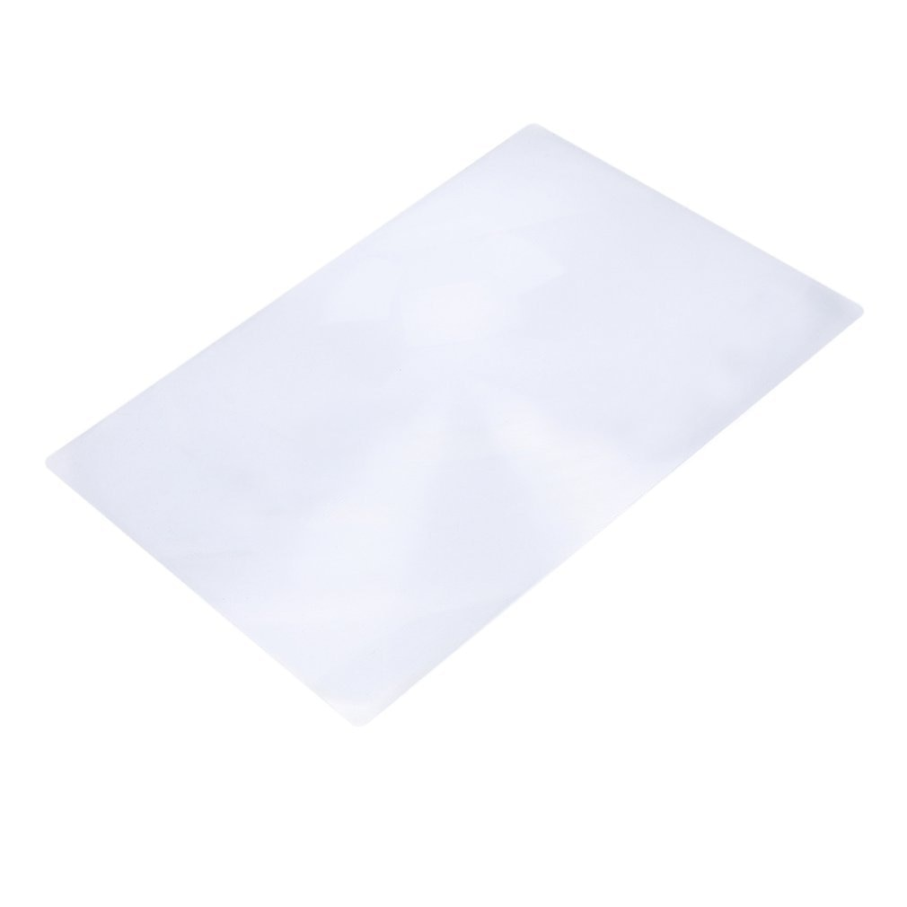 3x large reading magnifier full page sheet magnifying glass book reading lens page reading glass lens magnification Portale Size 3X Magnification Magnifier XL Full Page Magnifying Sheet Fresnel Lens For Reading Newspaper Document