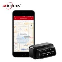 Mini OBD GPS Tracker Car Tracking Plug&Play Mini GPS Tracker Plug-out Alarm Vehicle OBD Tracker Geo-fence LIFETIME FREE APP