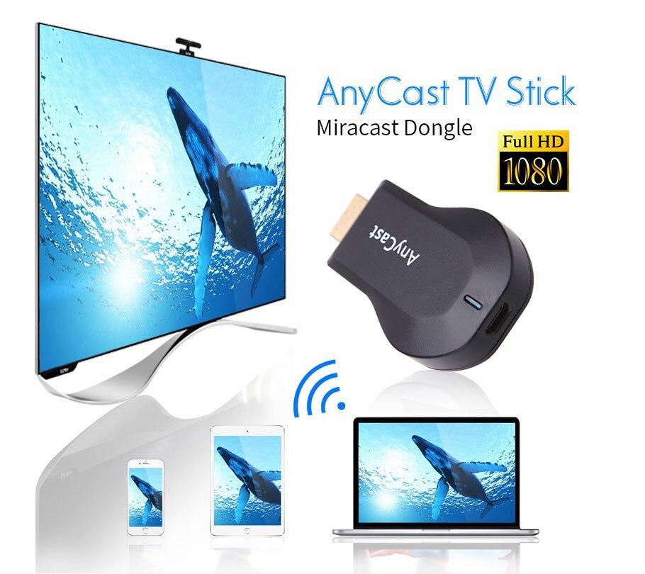 Anycast m2 iii Plus Miracast беспроводной hdmi 1080p ТВ адаптер Wifi Дисплей зеркало приемник ключ для ios android