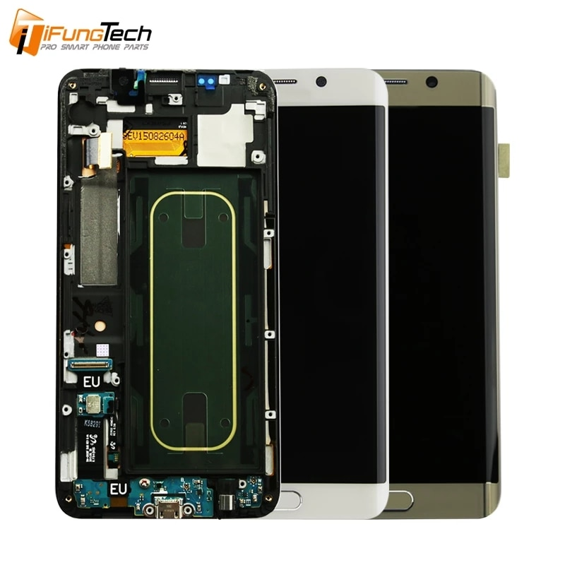 For Samsung Galaxy S6 Edge LCD Display Touch Screen With Frame For Samsung G925F G925FQ G925I G925A G9250 Replacement Parts enlarge