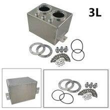 SPSLD réservoir de récupération dhuile en Aluminium 3L   Universel, pile à carburant, réservoir de carburant/bidon de carburant avec Double pompe à carburant 044