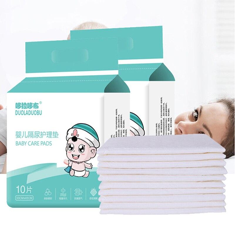 10 Uds tela de pañal de bebé inserto pañales de tela no tejida pañales desechables bebé pañal bebé entrenamiento pantalón orinal
