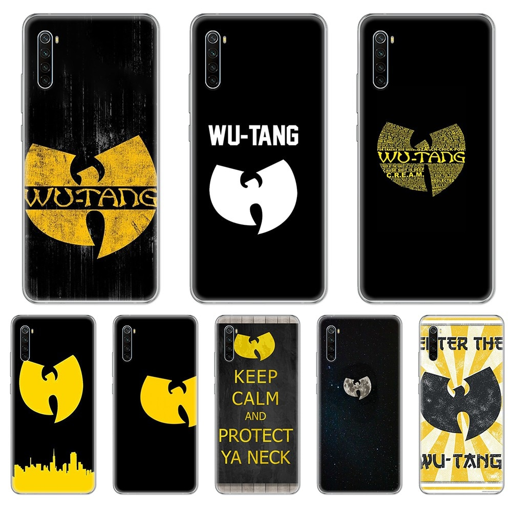 Wu-Tang Clan HIP-HOP tendencia Etui hoesjes transparente funda de teléfono para xiaomi Redmi 3S 4A 5A 6A 5 Plus 4X 7 8 8a CC9 K20 Pro K30