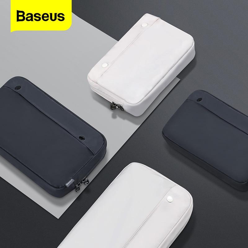 Baseus Phone Bag Case For iPhone 11 Huawei Samsung Xiaomi Portable Digital Storage Bag Fabric Waterp