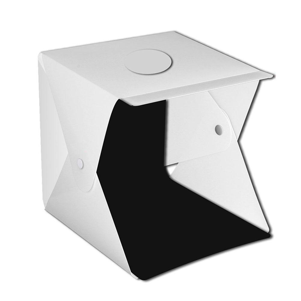 Tienda de fotografía LED luz ajustable brillo de mesa disparo Mini portátil botones joyería estudio caja Softbox cámara DSLR