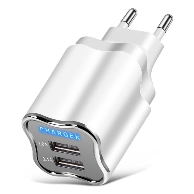 Cargador con enchufe europeo y americano para teléfono móvil, Cargador USB Dual...