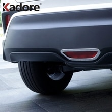 For Toyota C-HR CHR 2016-2018 2019  Chrome Rear Brake Stop Lights Lamp Shade Cover Bottom Stoplight Hood Decoration Car Sticker