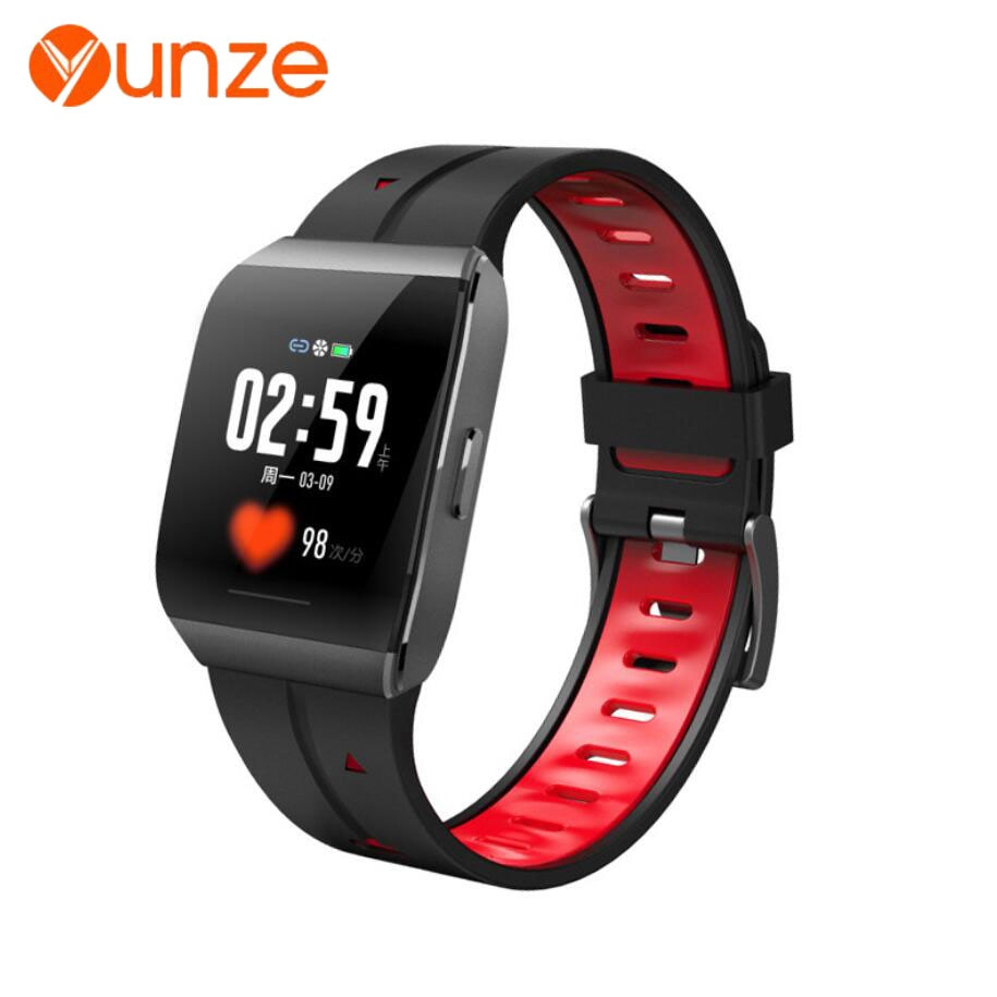 YUNZE X1 smartwatch men women heart rate movement  IP68 waterproof smart watch 2020 Android IOS reloj inteligente
