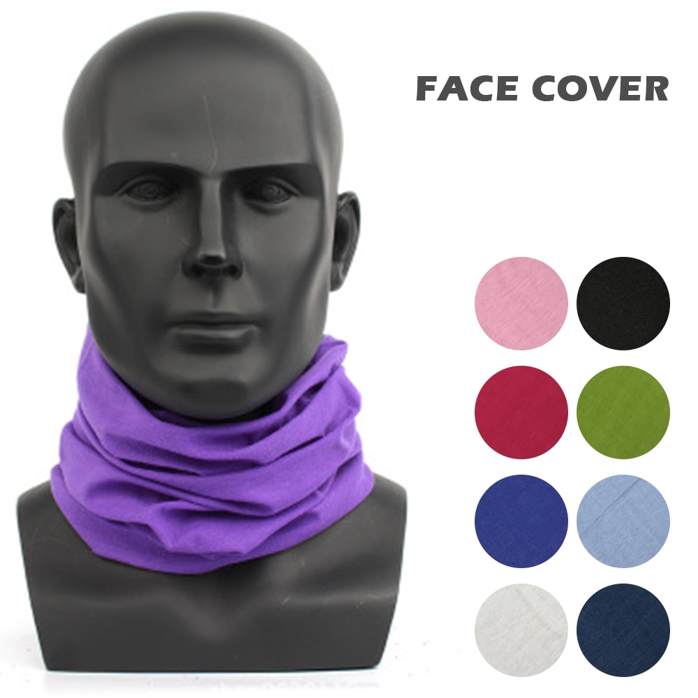 Pañuelo para deportes al aire libre, pañuelo para montar, pañuelo de ciclismo, banda para la cabeza, banda para la cabeza, Color sólido, máscara facial para hombres y mujeres