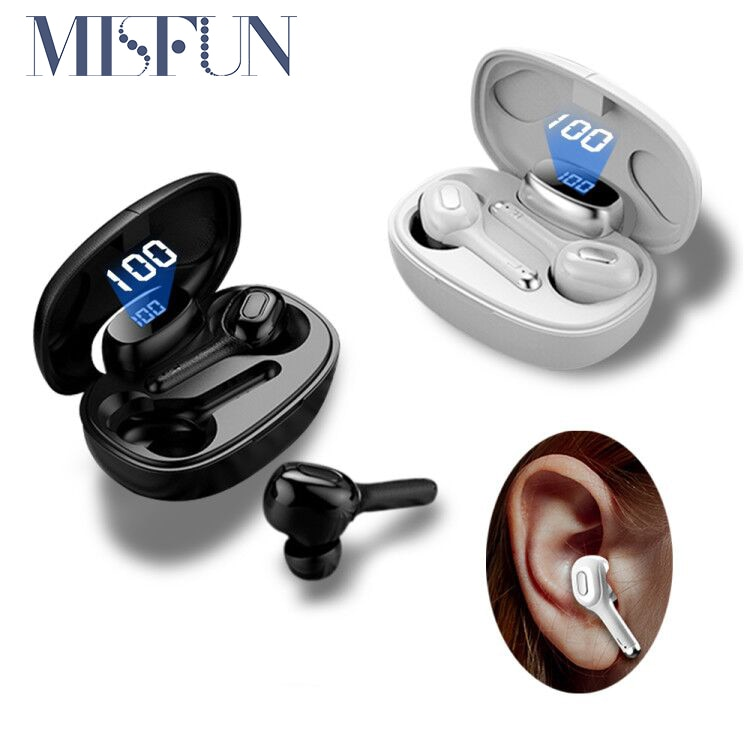 MISFUN TWS 5.0 Wireless Headphones With MIC 6D Stereo Headset IPX7 Waterproof Bluetooth Earphone Hifi Sports Bluetooth Earbuds